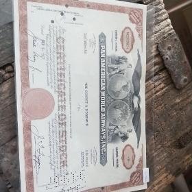 美国老股票1967年