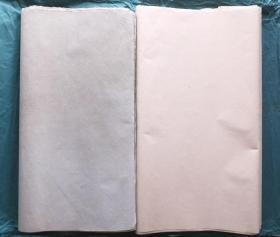 日本7-80年代老和纸2色60张185*60cm色纸书画宣纸N1104