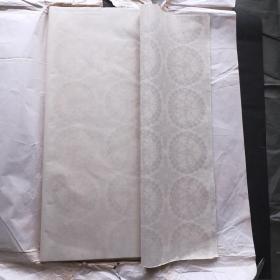 日本7-80年代老宣纸狩文策花纹宣35张136*70cm色纸书画宣纸N1106