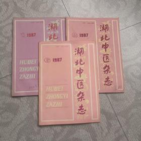 湖北中医杂志(1987年1.3.6期)3本