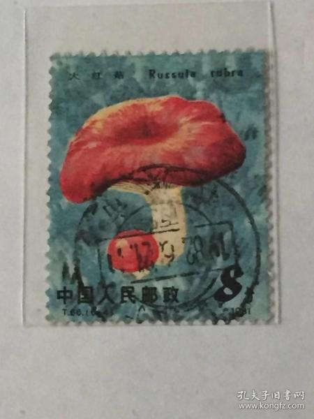 """T66《食用菌》信销散邮票6-4""""大红菇"""""""