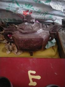 石头茶壶一套(无伤)