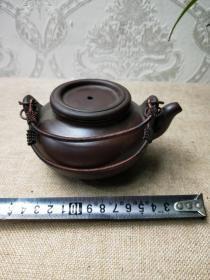 紫砂老茶壶形状独特喝茶太好了完整沙好