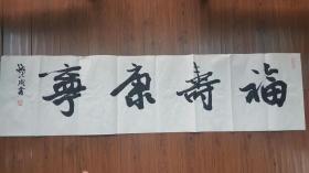 浙江省文化厅厅长钱法成书法《福寿康宁》