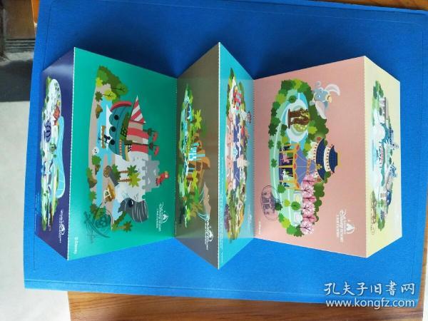 上海迪士尼明信片片(一套6枚)