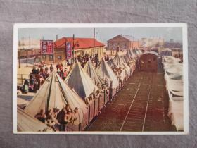 天津老明信片,北洋时期,直奉战争,奉军入津,老龙头火车站