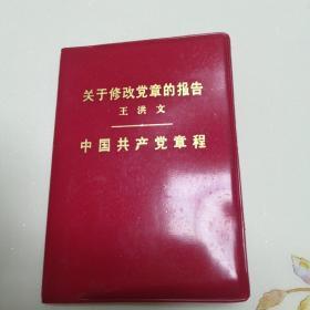关于修改党章的报告王洪文中国共产党章程