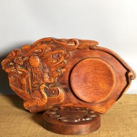 寿星木雕砚台
