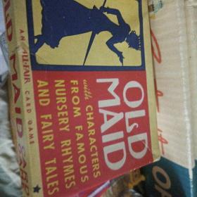 古董收藏 1930年古董纸牌游戏纸牌游戏 老女仆 old maid