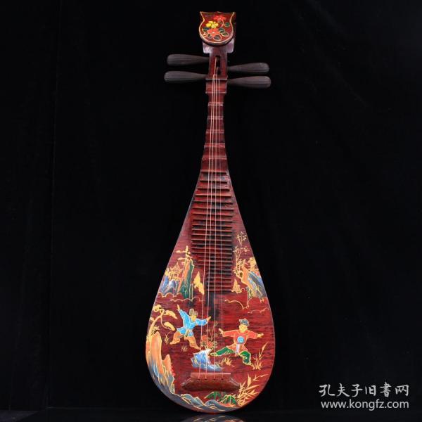珍藏纯手工描金琵琶   6n