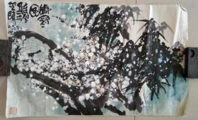 著名画家  尚连璧  先生  花鸟画精品《岁寒图◆雪中梅竹见精神》