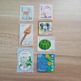 外国邮票 日本信销邮票7枚(乙05-5)