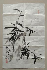 著名画家 石怀 先生《石竹图◆我亦有亭深竹里,也思归去听秋声》