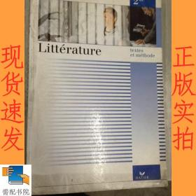 英文书 LITTERATURE textes et methode 文学文本与方法
