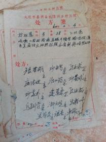 1960年云南大理喜洲中医处方101张