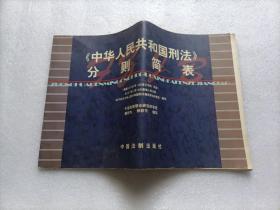 《中华人民共和国刑法》分则简表   有水印 内容完好 请阅图