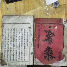 舒氏族谱(平阳堂)卷首2册不同,惜品差()
