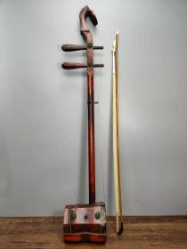 收藏红木雕刻太极八卦二胡一把