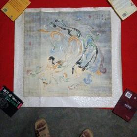 敦煌市美术家协会副主席--王启江--【工笔画】敦煌飞天【保真手绘】