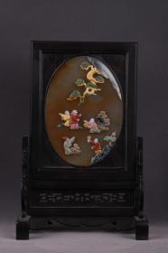 旧藏:玛瑙百宝嵌插排