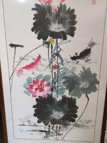 陈忠南,江苏无锡人。 1945 年 l2 月出生,中国美 术家协会会员,国家一级美术师,号江南渔父。作品保真