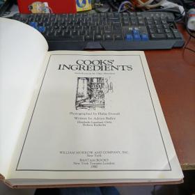 Cook's Ingredients Hardcover – November