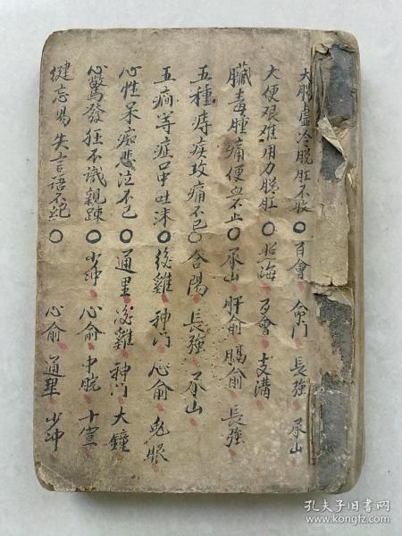 中医手抄本     针灸书