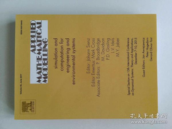 Applied Mathematical Modelling 06/2017  应用数学建模学术论文期刊杂志