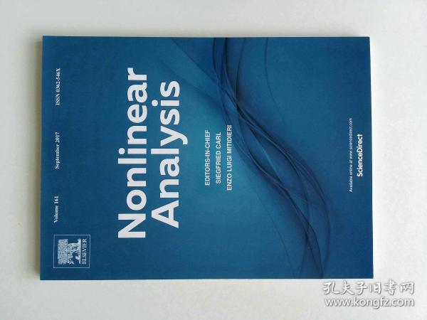 Nonlinear Analysis (Journal) VOL.161  09/2017非线性分析多学科学术期刊