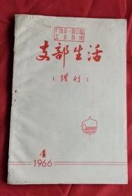支部生活 增刊 1966.4 包邮挂刷