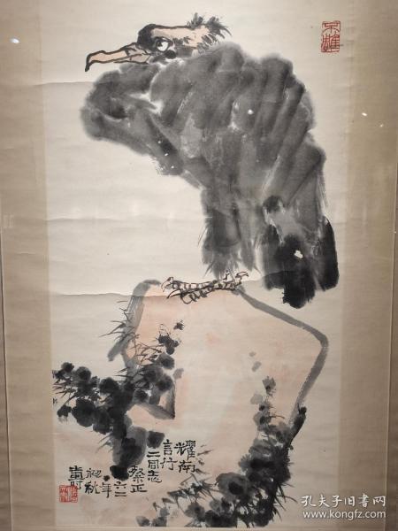 潘天寿—鹫憩顽石图  尺寸:76/41  暂时不对外出售