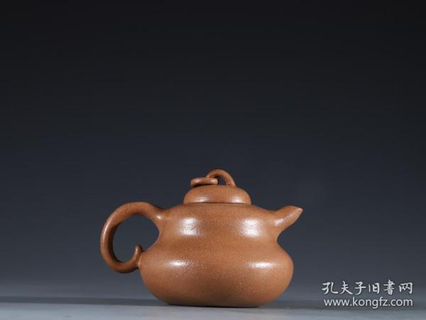 紫砂段泥 葫芦形 茶壶