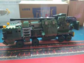 155毫米52倍口径车载榴弹炮拼装积木模型完成品