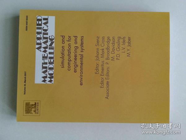 Applied Mathematical Modelling 03/2017  应用数学建模学术论文期刊杂志