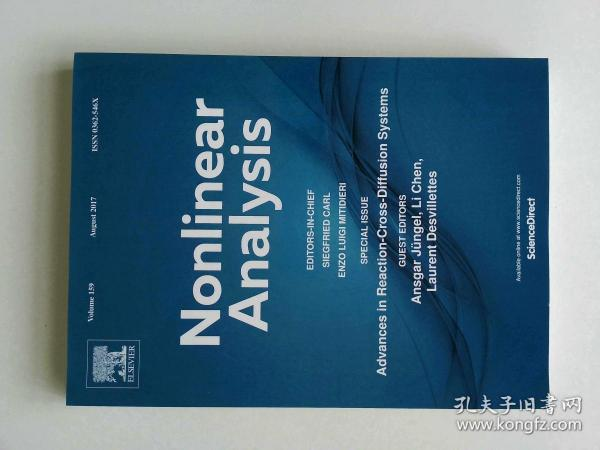 Nonlinear Analysis (Journal) VOL.159 08/2017 非线性分析多学科学术期刊