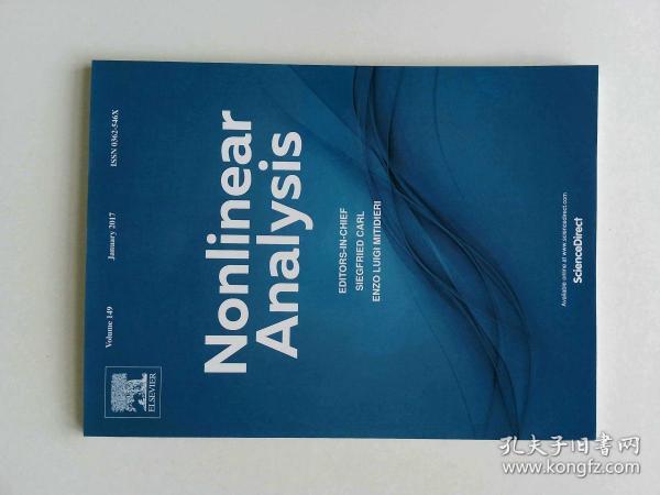 Nonlinear Analysis (Journal) VOL.149 01/2017 非线性分析多学科学术期刊