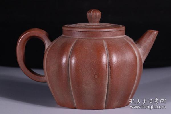 老紫砂 瓜型 茶壶