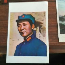 1994年年历   老画片    毛主席去安源等5张 合售