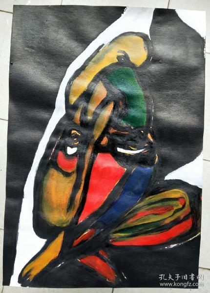 青年书画家胡子彩墨绘画作品:《人体》