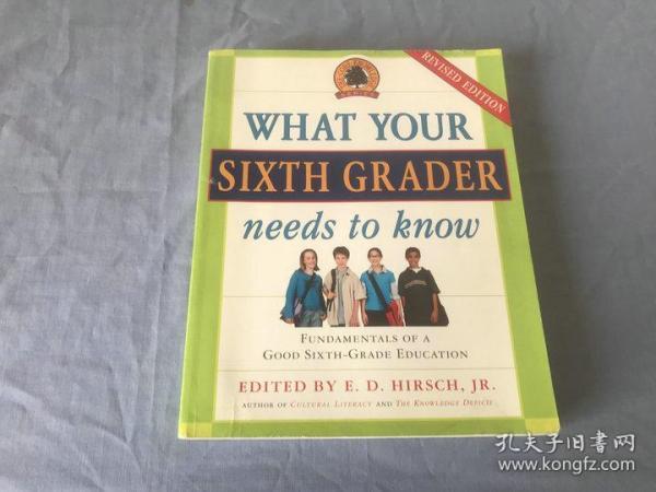 英文原版书   WHAT YOUR SIXTH GRADER