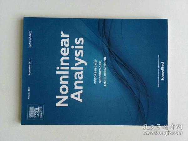 Nonlinear Analysis (Journal) VOL.160 09/2017 非线性分析多学科学术期刊
