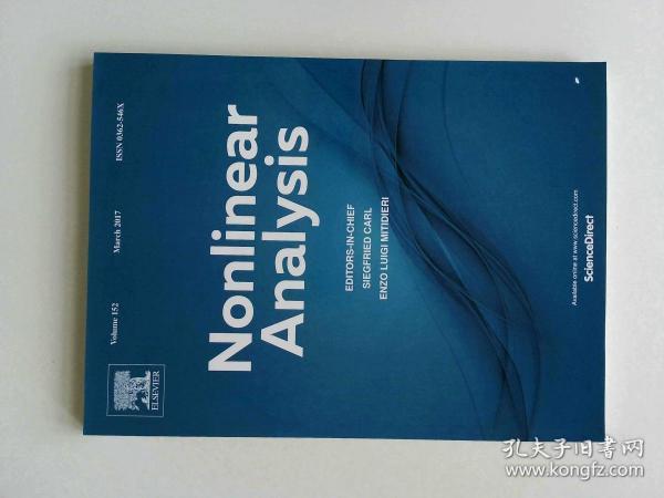 Nonlinear Analysis (Journal) VOL.152  03/2017 非线性分析多学科学术期刊