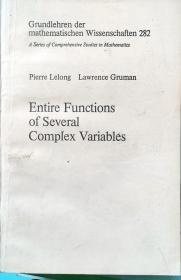 英文版:Entire Functions of several Complex Variables 多复变量整函数
