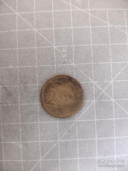外国硬币乌拉圭两元,满五十元包邮