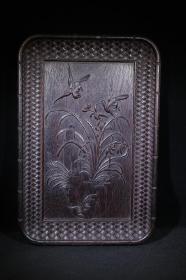 花鸟木雕茶盘
