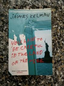 《You have to be careful in the land of the free》2004年英国原版进口货平装本大开本 私藏干净厚重希见 布克奖获得者经典著作