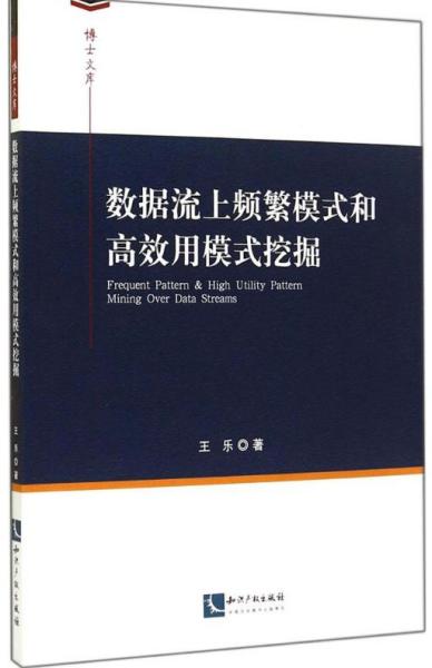 数据流上频繁模式和高效用模式挖掘王乐知识产权出版社9787513029827计算机与互联网