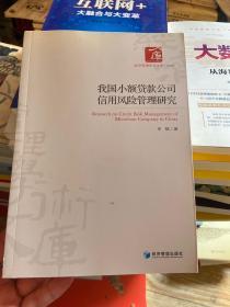 经济管理学术文库·管理类:我国小额贷款公司信用风险管理研究