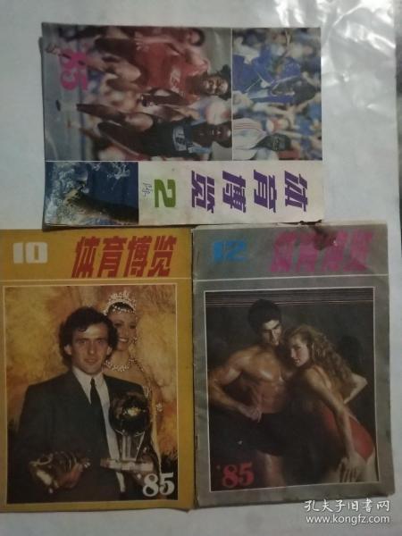 体育博览,1985年.2,10,12共三本