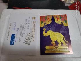 泰国贺卡,带信封